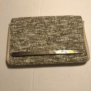 KELLY AND KATIE Tweed Clutch Handbag Chain Strap
